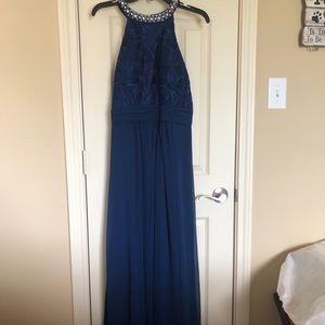 Alex Evenings Full length blue dress size 10